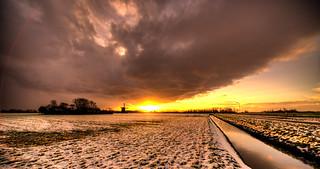 Sun fighting Winter.