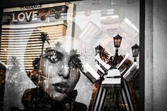 The Mirage of Love (World View...Human Touch) Tags: cerrado allsubjects window street reflections nevada windows gallery sanwarzoné mannequins mwarzone statues eldorado posters strip lasvegas newmexico models model graffiti artwork sanwarzone santafe places art