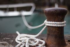 Tied (tom.leuzi) Tags: berneroberland bokeh boot canonef50mmf14usm canoneos6d dof knoten schiff schweiz see seil switzerland boat knot lake outoffocus rope ship thun