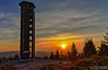 Buchkopfturm Oppenau (Emanuel D. Photography) Tags: sky nature sunset outdoors landscape dusk night tower blue tree mountain scenics forest winter architecture snow