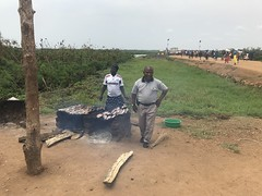 Obongi_ferry_smoking_fish2 (FAO Forestry) Tags: fao un uganda refugees unhcr world bank environment energy south sudan woodfuel forestry