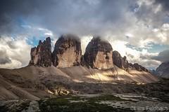 ...tre cimes. (lars feldhaus) Tags: travel mountains dolomites clouds sunshine nature