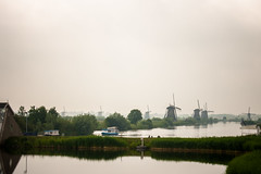 Kinderdijk (aniretak) Tags: kinderdijk windmill windmills outdoor landscape netherlands trip europe canals water green grass trees sky unesco visit