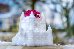 The Castles of Surrey (DobingDesign) Tags: thameside surrey surbiton snow snowcastle snowsculpture flower bokeh streetphotography architecture surreal fun waterside coldweatherfun cold icey icy sculpture streetart macro grass