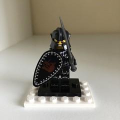Dark Knight In Lego! (VioletFiber) Tags: lego fortnite sword sheild series red eyes teir 70 white backdrop