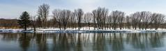 La Rivière Nicolet du 22 mars 2018 (guysamsonphoto) Tags: guysamson sonyalpha7rmkiii rokinon50mmf14 rivière rivièrenicolet rivièreduquébec hiver winter neige snow panorama