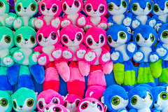Waiting To Be Hugged By You (Claude Downunder) Tags: toys stuffedtoys plushtoys colourful colour colours blue pink green cuddly tails canada canadaswonderland toronto teddies toy teddy