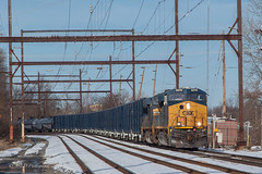 CSXT Q301 @ Langhorne, PA (Darryl Rule's Photography) Tags: 2018 aem7 alp44 buckscounty c764 csx catenary dark diesel diesels electric express freight freightcar freighttrain freighttrains ge inbound langhorne local march mixedfreight orangejuice outbound pa passenger passengertrain pennsylvania q140 q300 railroad railroads septa silverliner silverlineriv silverliners snow snowy station sun sunny train trains tropicana tropicanajuicetrain westtrentonline winter woodbourne