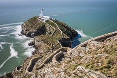 South Stack (James Whitlock Photography) Tags: europe uk wales anglesey south stack holyhead lighthouse cliff walk path long exposure waves wall nikon d810 lee filters gitzo