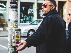 Mafia (The Street Sniper) Tags: mirrorless 1855mm kitlens xe3 fuji deutschland germany crosswalkbutton crosswalk glasses urban crossing pushbutton pushtowalk button pedestrian man streetphotography street kreuzberg berlin fujifilm