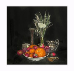 Certain time of day (Krasne oci) Tags: flower fruit stilllife classic orange strawberry sterling plum evabartos artphotography photographicart