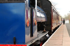 Ribble Stream Railway (KevHaseldine) Tags: steamtrain lancashire preston ribblesteamrailway saddletank coaches guard station