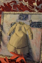 the dress we used to wear (Danny W. Mansmith) Tags: sewncollage oneofakind smallart handmade originalart sewing dre dannymansmith burienwashington wwwdannymansmithetsycom stopmotionsewing drawingwiththesewingmachine reuse billenvelope