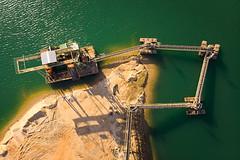 green water (radonracer) Tags: geldern baggersee niederrhein industrie kies sand
