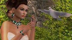 Peace (kare Karas) Tags: woman lady femme girl girly cute beauty pretty soul peace outdoors nature virtual avatar secondlife game fun magic mesh dress jewelry poses garden liziaah zurirayna pinkmagic swankevent