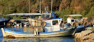 Greece-wooden fishing boat