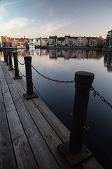 Leith Shore Sunset and Harbour April 2018  (109 of 161) (Philip Gillespie) Tags: sunset sky clouds leith shore harbour water sea river wet reflections buildings architecture mono monochrome black white colour color yellow red orange green purple pink blue urban city town canon 5dsr people men women man woman kids boys girls feet legs heads hands outdoor bridge profile long exposure spider chains birds swan bench scotland edinburgh boats dock night evening lights stars street road hour