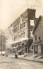 Grange Building Fire - January 19, 1914 - Brattleboro, Vermont (The Cardboard America Archives) Tags: vintage fire postcard cityinruins disaster vermont rppc