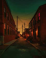 Sunset Baltimore (still_shotz) Tags: maryland federalhill sunset alleys baltimore