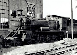 East African Railways - EAR Class 24 4-8-0 steam locomotive Nr. 2429 at Nairobi, 1979 (Vulcan Foundry 3796 / 1925)