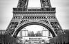 Eiffel Detail (MiddleRob) Tags: seine france champsdemars sensationalartchitecture toureiffel tvbuildings trocadero eiffeltower wroughtiron architecture eiffel lattice paris blackandwhite detail
