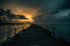 ____I____ (Kevin HARWIN) Tags: water sea wet waves past beach stnes rocks sunset clouds dark drama pier canon eos m3 sigma 1020mm lens heren bay south east kent uk england britain