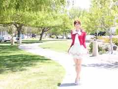 day284-04 Just a Happy Sunny Day with Prime Pattern (Yumiko Misaki) Tags: day284 blouse skirt dress ankrouge lizlisa primepattern kawaii cute transgender transsexsual transvestite crossdresser crossdressing