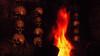 002 Flames of the Dead (vitvalecka Skyrim) Tags: oblivion elderscrolls game ingame fantasy flame fire orange warm skull dark
