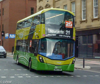 Go North East 6326 NK67GNP: Wright StreetDeck micro-hybrid