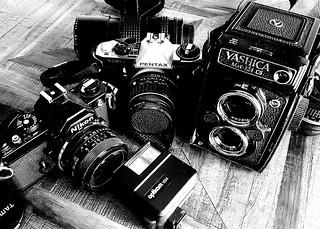 Nikon, Pentax and Yashica cameras