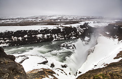 The majestic waterfalls of Gulfoss, Iceland (Jo Evans1- On and off for a while - really busy!) Tags: gulfoss waterfalls iceland majestic vast snow icy spray beauty