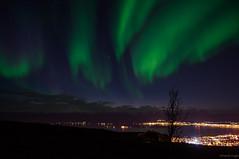 Fjellheisen. (Mikesch.75) Tags: aurora auroraborealis night nacht norway norwegen nikon nordlichter natur green tromsö troms nightshot light sky