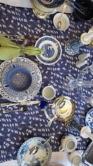 Blue on Blue 1 (Mamluke) Tags: blueonblue blue tabletop table flatware glassware dishes china mix mixed tablelinen linen mamluke home blues mixes mixture crystal patterns pattern patterned napkin fork knife spoon cup plate plates glass bowl