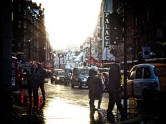 A Sunny Break on Shaftesbury Avenue (garryknight) Tags: panasonic lumix dmctz70 on1photoraw2018 london creativecommons ccby30 winter street weather shaftesburyavenue people traffic sign