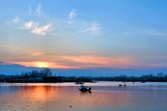 Dal Lake - A Sunset Landscape (pallab seth) Tags: dallake lake kashmir srinagar india nature winter cold landscape boat fishermen charchinar charchinari ropalank rupalank vehicle travel adventure tour tourism shikara sunset dusk evening