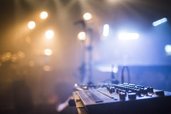 20180327_F0001: Equalizer bokeh (wfxue) Tags: concert venue light lighting smoke smoky stage sound audio equipment equalizer gig bokeh