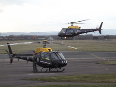 ZJ277 Eurocopter Ecureuil AS350BB With ZJ273 Eurocopter Ecureuil AS350BB Helicopters (Aircaft @ Gloucestershire Airport By James) Tags: gloucestershire airport zj277 zj273 eurocopter ecureuil as350bb helicopters egbj james lloyds