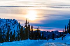Sunset (ValeTer_) Tags: nikond7500 mtrainiernationalpark nationalpark usa wa washingtonstate rainier snow winter sunset sun paradise mtrainier