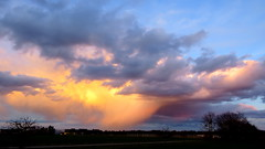Fallstreifen (Deutscher Wetterdienst (DWD)) Tags: wetter weather himmel sky wolken clouds schauer shower abendstimmung eveningatmosphere dwd