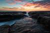 Devil's Colour II (Crouchy69) Tags: sunrise dawn landscape seascape ocean sea water coast clouds sky rocks devils cauldron whale beach sydney australia