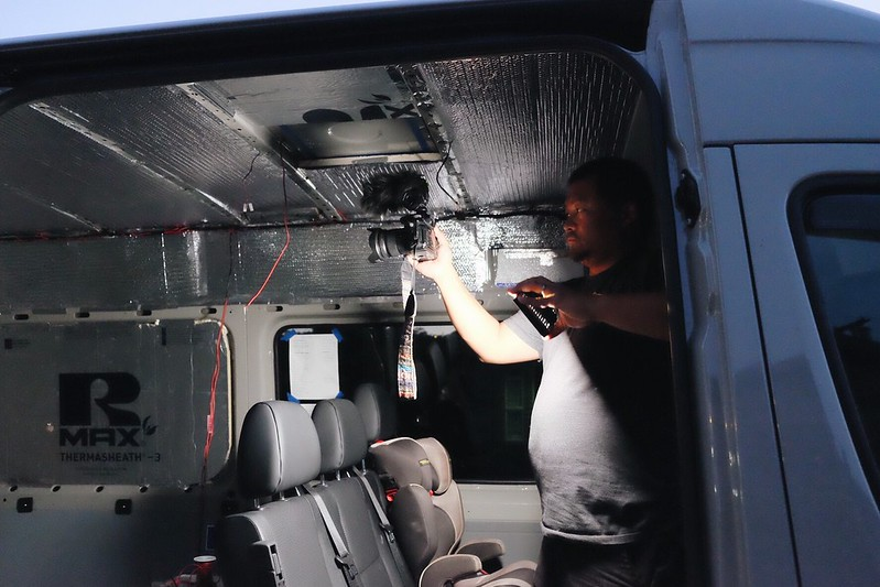 Sprinter van build day 7 - sold the FWC an truck too. 041318