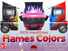 Flames Colors for Hermes Cabin - x7 Pack (cuuka) Tags: red sun cuuka shop second life secondlife kushino hermes truck paint texture painting custom colors fire flames market