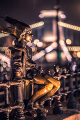 The statue at night (Vagelis Pikoulas) Tags: budapest statue canon 6d hungary tamron 70200mm vc bokeh lights europe