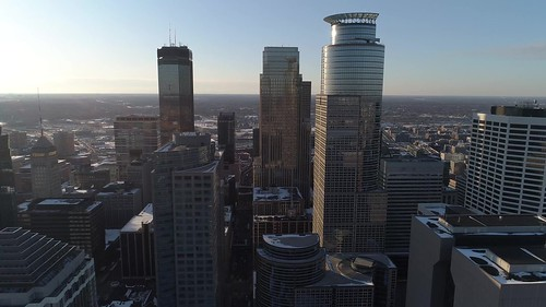Minneapolis Skyline from Above - Aerial in 4K