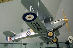 G-ABMR   (J9941) Hawker Hart [H.H-1 ] (RAF Museum) Hendon~G (Date unknown) (raybarber2) Tags: 57 approachtodo biplane cnhh1 coded57 gabmr hh1 j9941 johnbabbagecollection slide ukcivil warbird