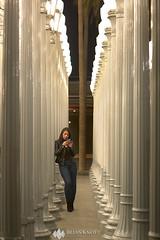 Millennial Light (Brian Knott Photography) Tags: urban city urbanlight urbanlights art exhibit museum losangeles light lights streetlights streetlamps girl woman women people millennial youth teen phone iphone technology