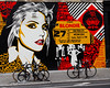 Blondie on The Wall! (Scott Yeckes) Tags: bowery music nyc newyork newyorkstory nostalgic bicycle blondie cityscape colorful debbieharry downtown lowereastside lowermanhattan manhattan musicpeople musicphotography nostalgia onlyinnewyork perspective pointofview pov streetart streetphotography mural wallmural