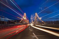 Chelsea Bridge (ijpears) Tags: chelsea exposure lights river thames london city cityscape night bridge traffic