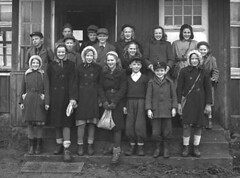 Class Photo (theirhistory) Tags: children boys kids school class form girls coat hat shoes dress trousers wellies boots