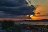 Sonnenuntergang (Tatjana_2010) Tags: sonnenuntergang sunset leuchtturm meer himmel wolken sonnenstrahlen